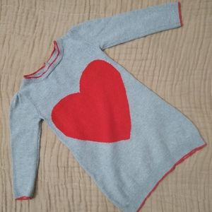 Gymboree gray sweater dress with heart. 3T